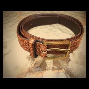 Vintage genuine Lizard Belt, made in USA!!! 34